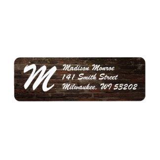 Monogram Dark Brick Wall Return Label