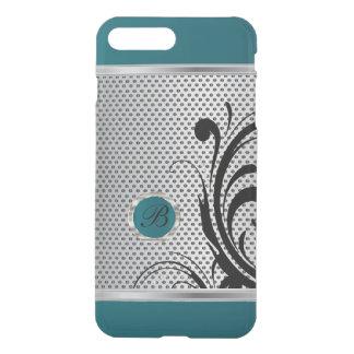 Monogram Dark Teal and Silver Mesh iPhone 8 Plus/7 Plus Case