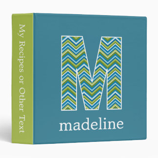 "Monogram Decorative Letter ""M"" Colorful Chevrons Binder"