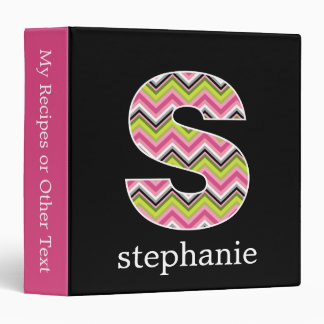 "Monogram Decorative Letter ""S"" Colorful Chevrons Binder"