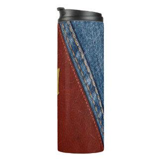 Monogram Denim and Leather Thermal Tumbler
