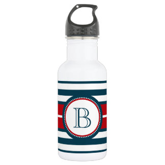 Monogram design 532 ml water bottle