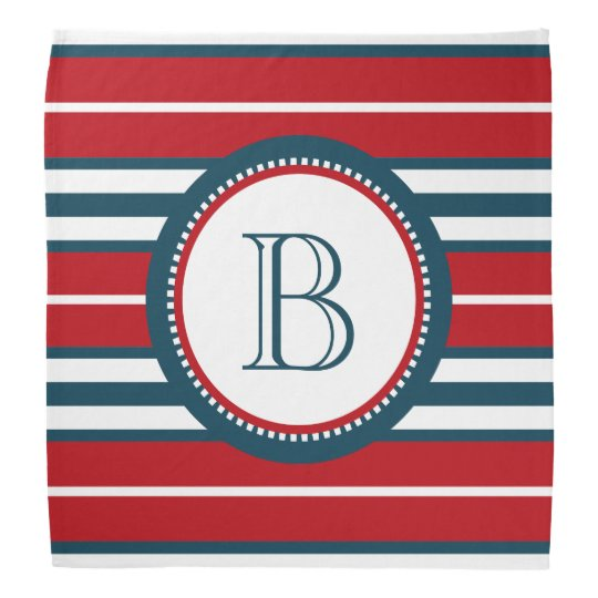 Monogram design bandana