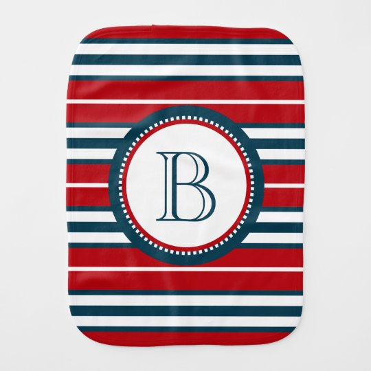 Monogram design burp cloth