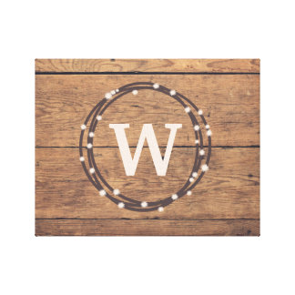 Monogram design canvas print