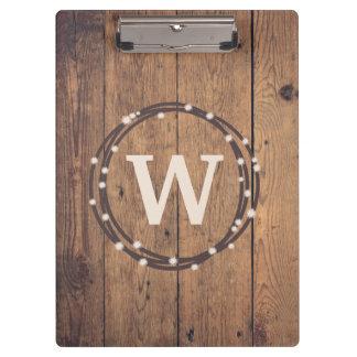 Monogram design clipboard