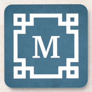 Monogram design coaster