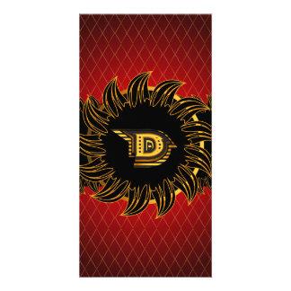 Monogram design, D Photo Card