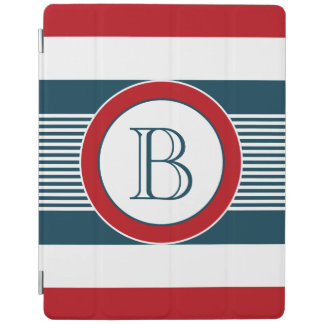 Monogram design iPad cover