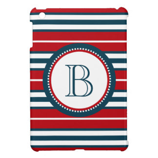 Monogram design iPad mini case