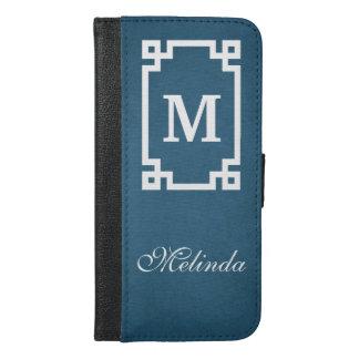 Monogram design iPhone 6/6s plus wallet case