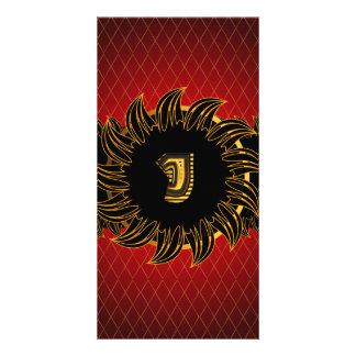 Monogram design J Photo Card