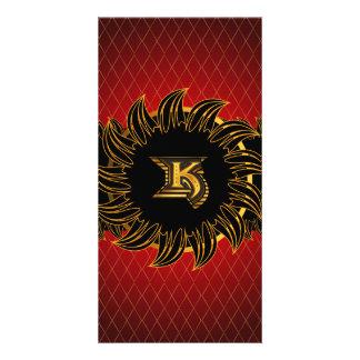 Monogram design K Photo Card