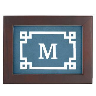 Monogram design keepsake box