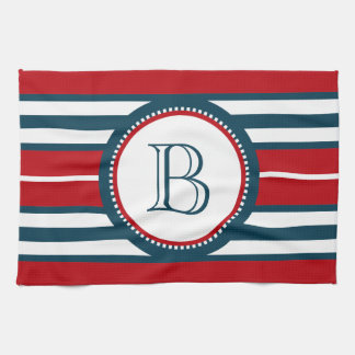 Monogram design kitchen towel