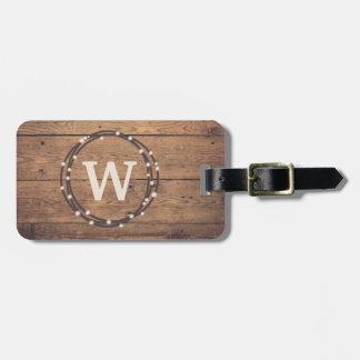 Monogram design luggage tag