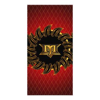 Monogram design M Photo Card
