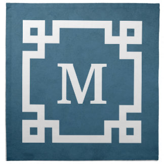 Monogram design napkin