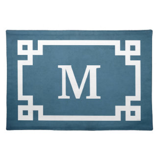 Monogram design placemat