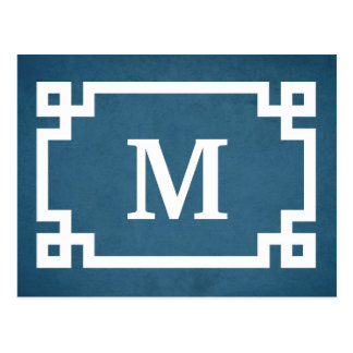 Monogram design postcard