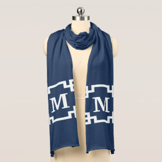 Monogram design scarf