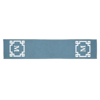 Monogram design short table runner