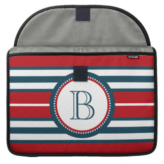 Monogram design sleeve for MacBooks