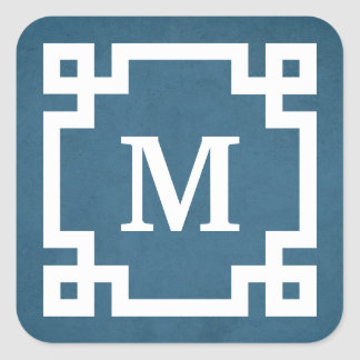 Monogram design square sticker