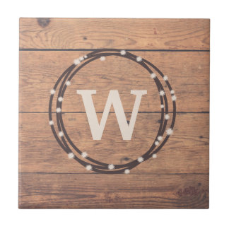 Monogram design tile