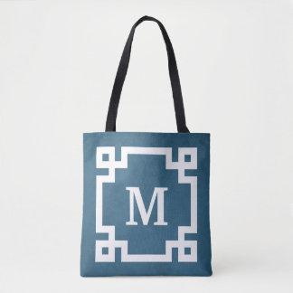 Monogram design tote bag