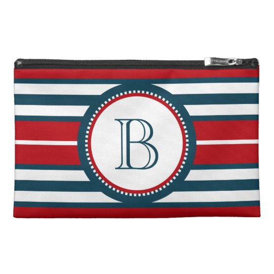 Monogram design travel accessory bag