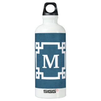 Monogram design water bottle