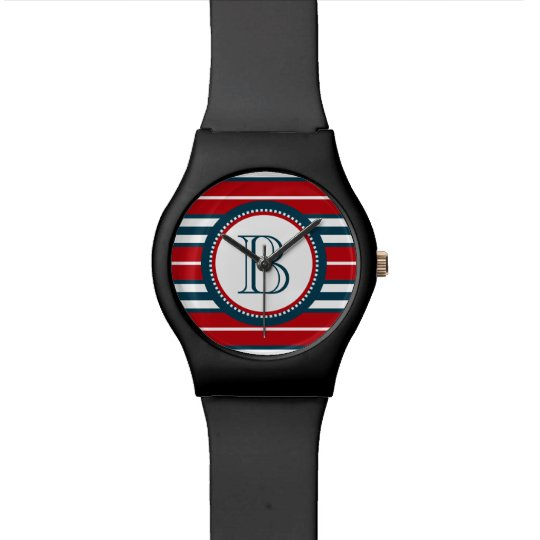 Monogram design wristwatch