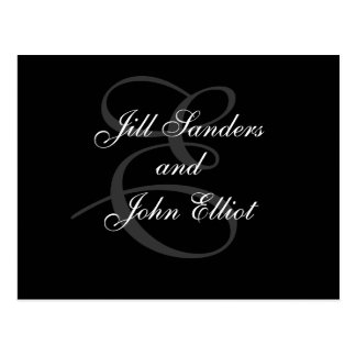 Monogram E First Names Save the Date Postcard