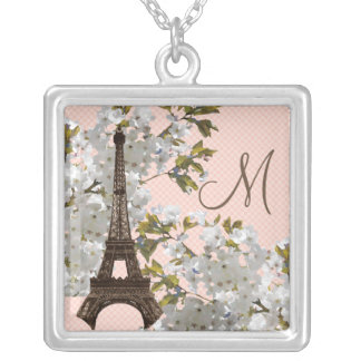 Monogram Eiffel Tower Necklace