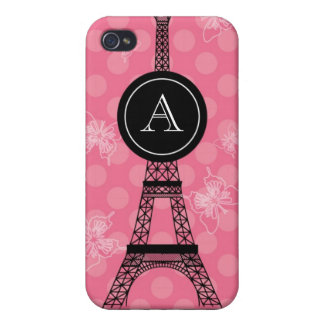 Monogram Eiffel Tower Speck Case Case For iPhone 4