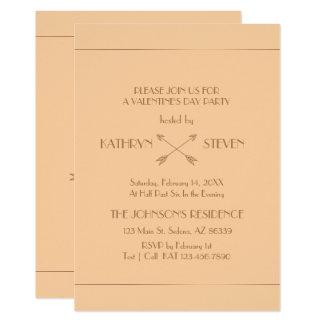 Monogram. Elegant Art Deco Valentine's Day Party. Card
