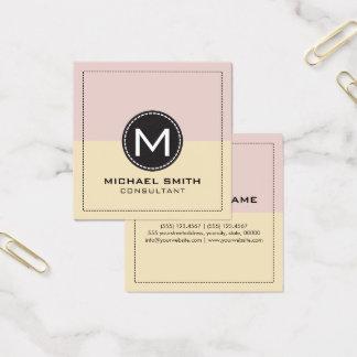 Monogram Elegant Modern Dust Storm and Dutch Square Business Card