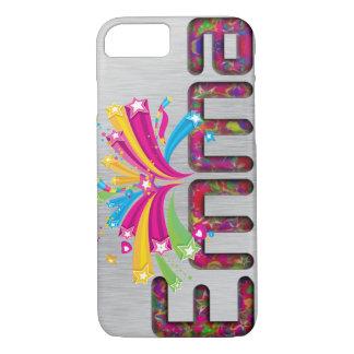 """Monogram """"EMMA"""" Silver Finish iPhone 7 Case"""