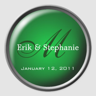 Monogram Envelope Seal :: Emerald