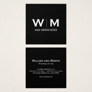 Monogram | Executive Square Business Card