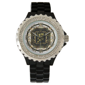 Monogram F Customize Edit Change Background Color Watches