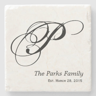 Monogram Family Coaster Set