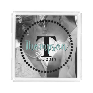 Monogram Family Name Acrylic Tray