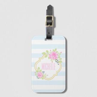 Monogram Fancy Luggage Tag w/ Business Card Slot