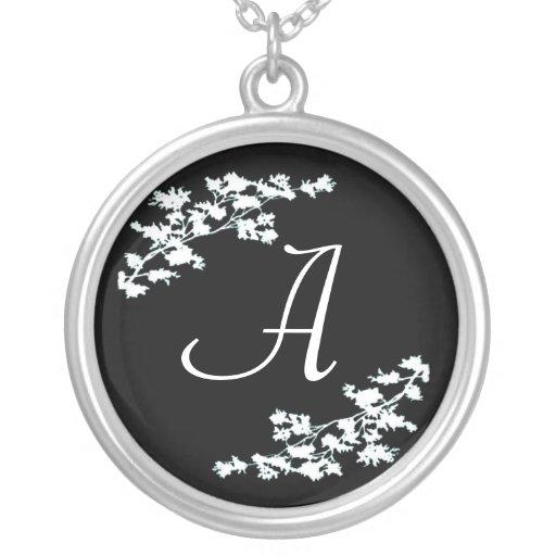 Monogram Floral Deco Necklace