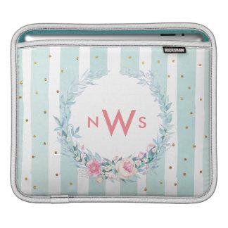 Monogram Floral iPad Sleeve