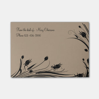 Monogram Floral Office Sticky Notepads