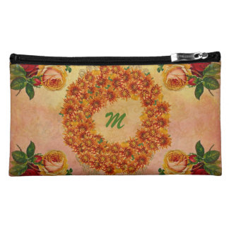 Monogram Floral Suede Cosmetic Bag for your Mom