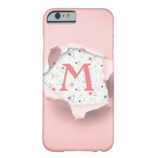 Monogram Floral Torn out Girly Cute iPhone Case